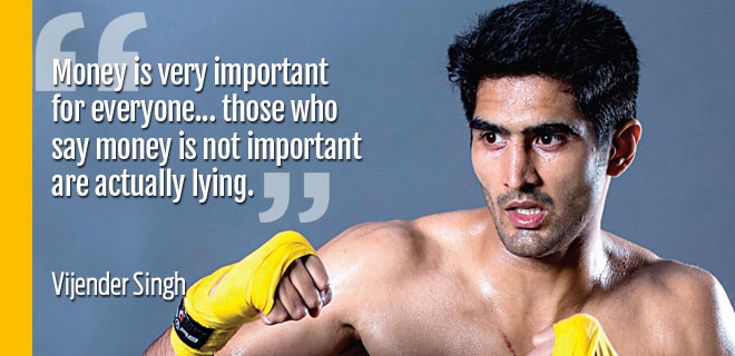 Vijender Singh sports his financial wisdom