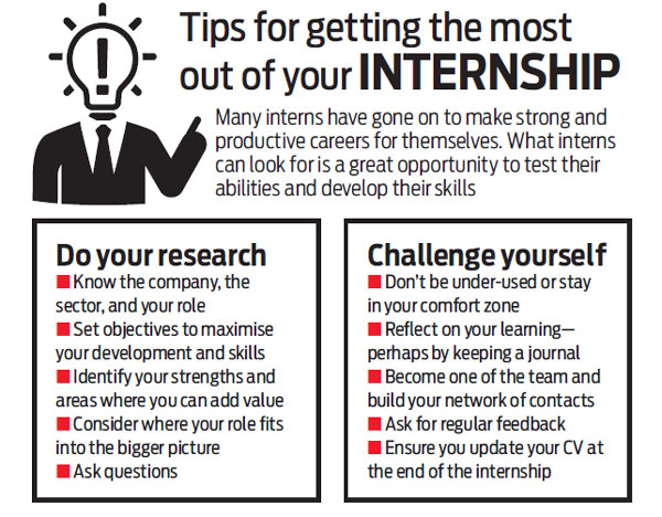 Experience the real-like work environment with internships
