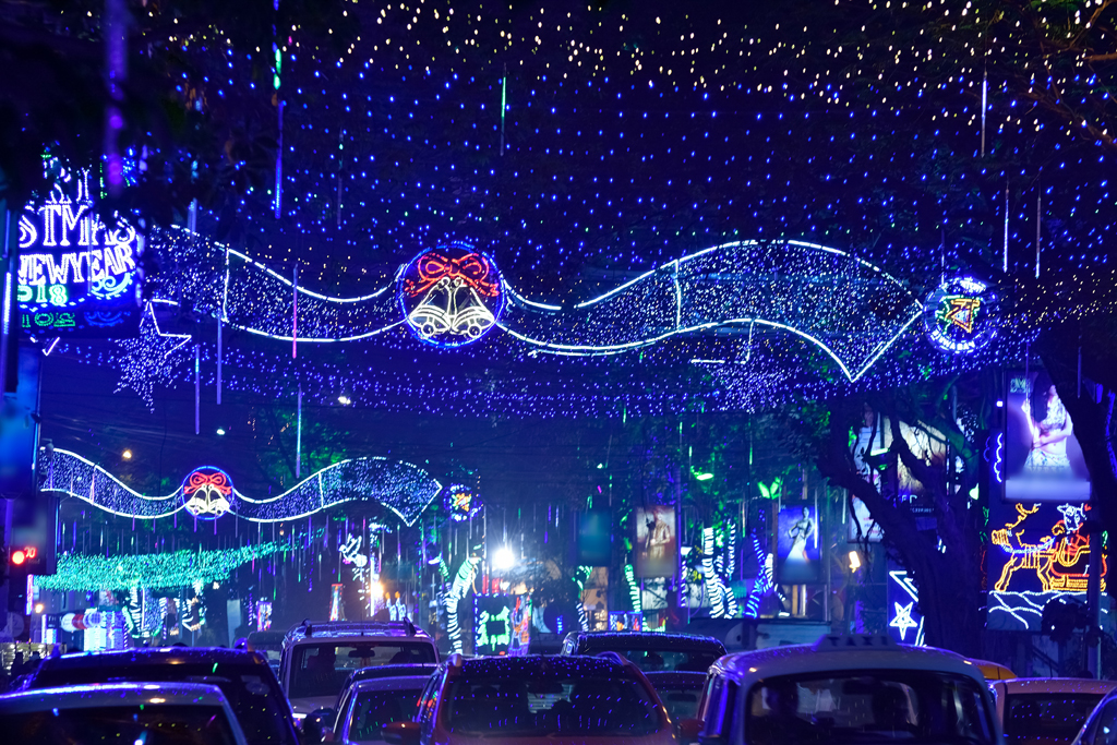 Park Street Kolkata During Christmas.Photos Chistmas Celebration At Park Street Kolkata