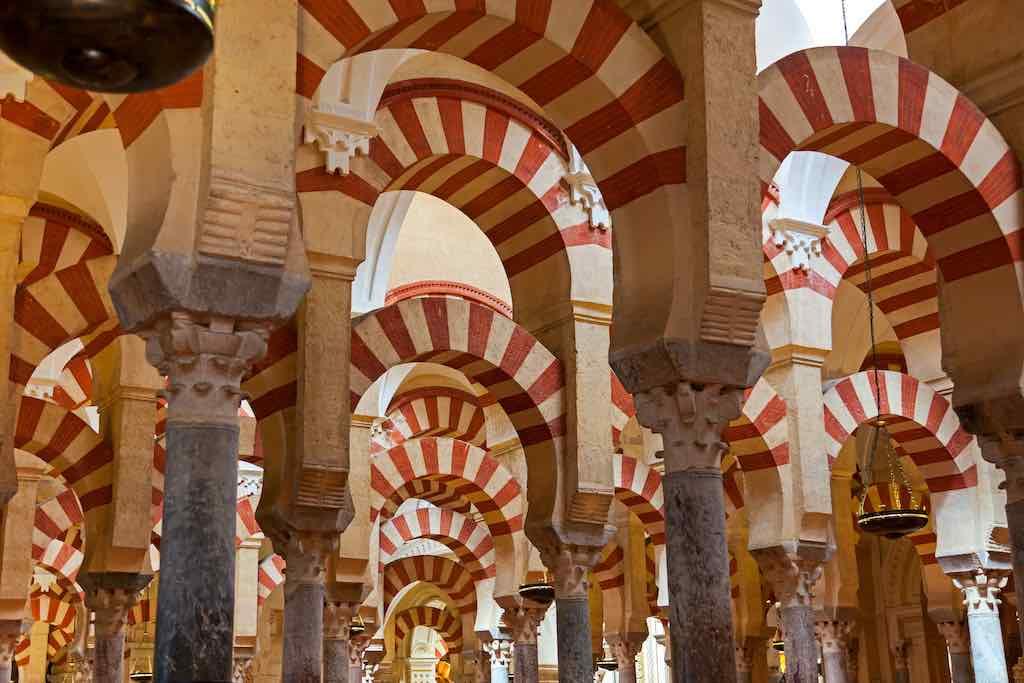 Dentro de la Gran Mezquita de Córdoba