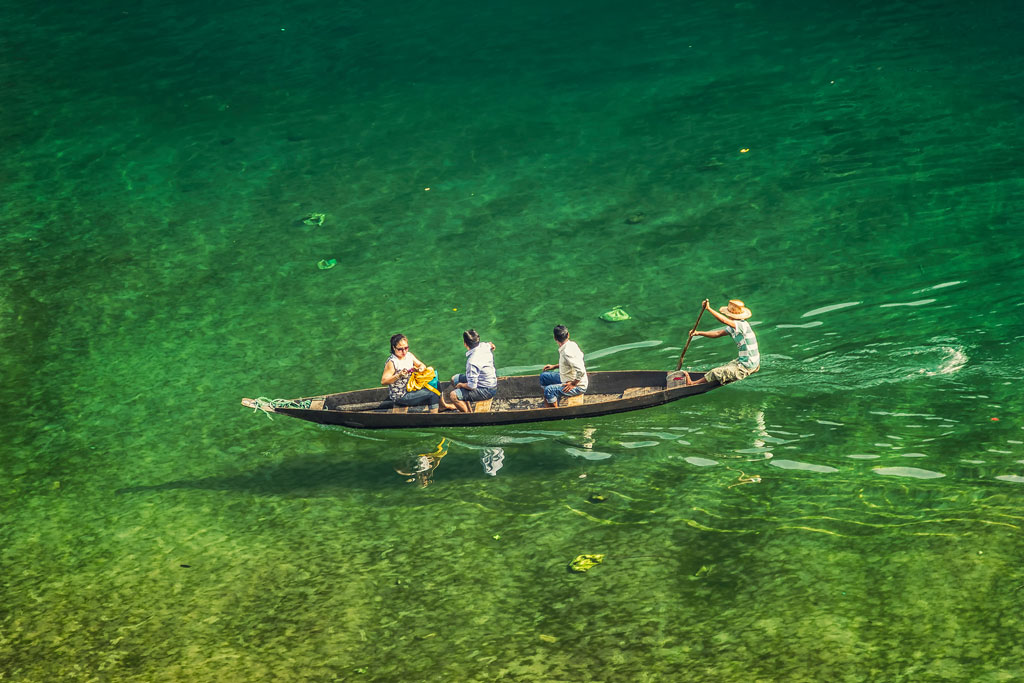 Photos: Dawki's Umngot River is known for its transparent waters - Outlook  Traveller