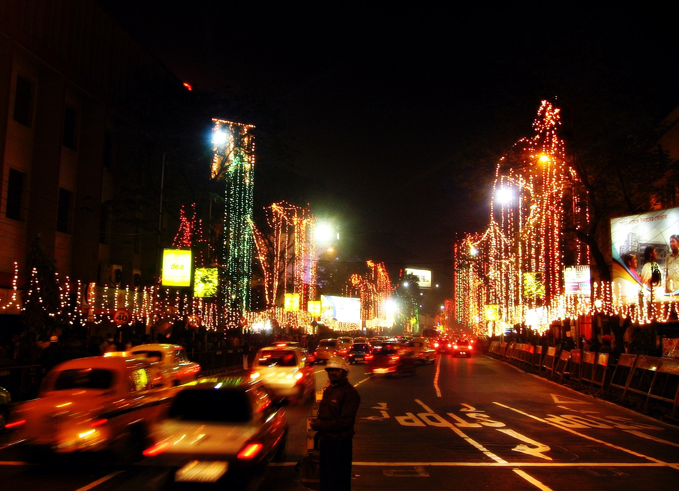 Park Street Kolkata During Christmas.Photos Park Street In Kolkata Lights Up During Christmas