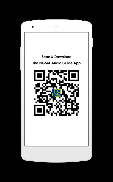 You can scan this code to download the NGMA Audio Guide App