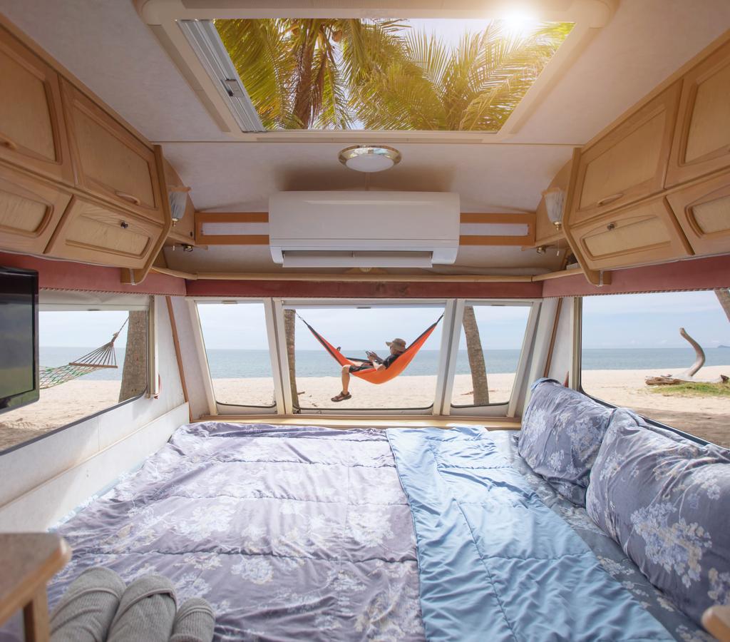 Go full vacay mode with a hammock