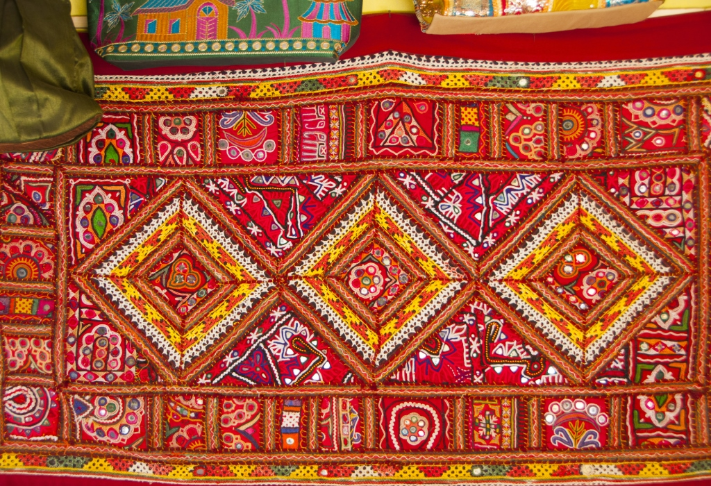 Photos: An example of the Kutch embroidery on a piece of fabric - Outlook Traveller