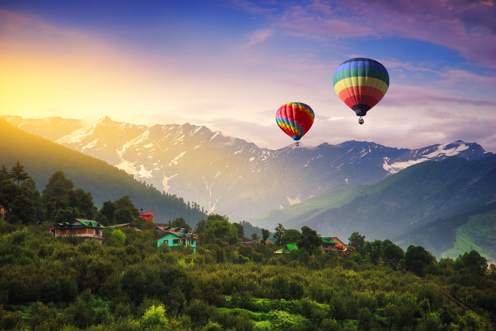 Photos: A beautiful hot air balloon ride over Manali, India - Outlook  Traveller