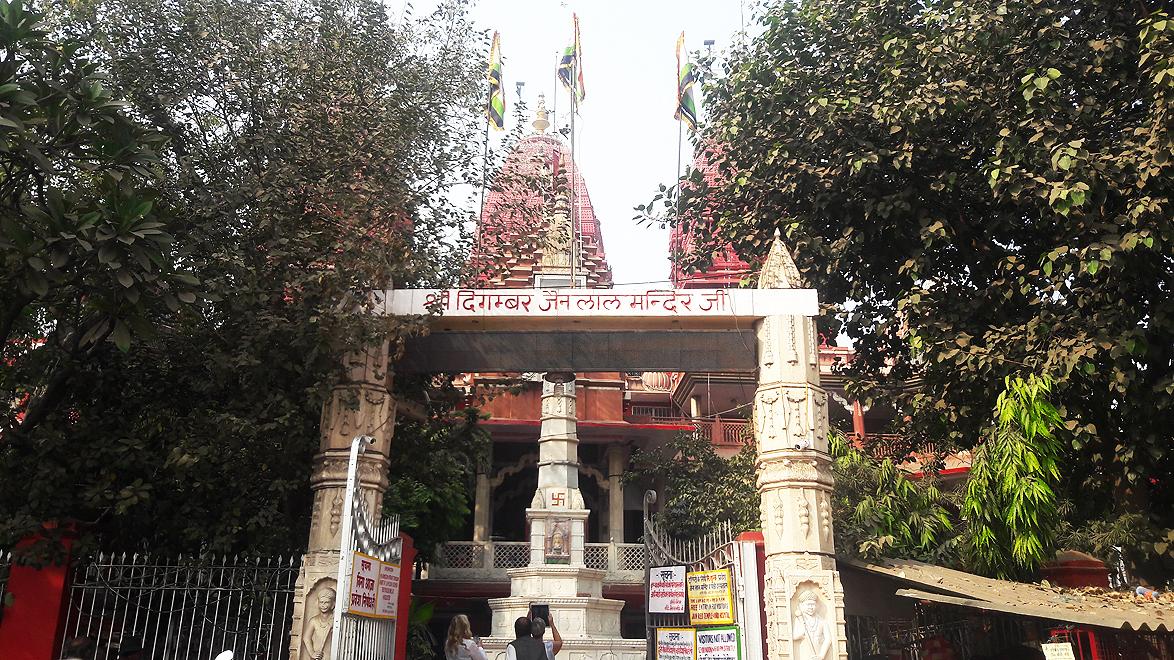 A short distance away from Jama Masjid is Sri Digambar Jain Lal Mandir, Delhi's oldest and best known Jain temple