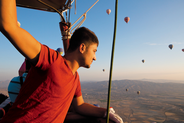 Soaring high above Cappadocia