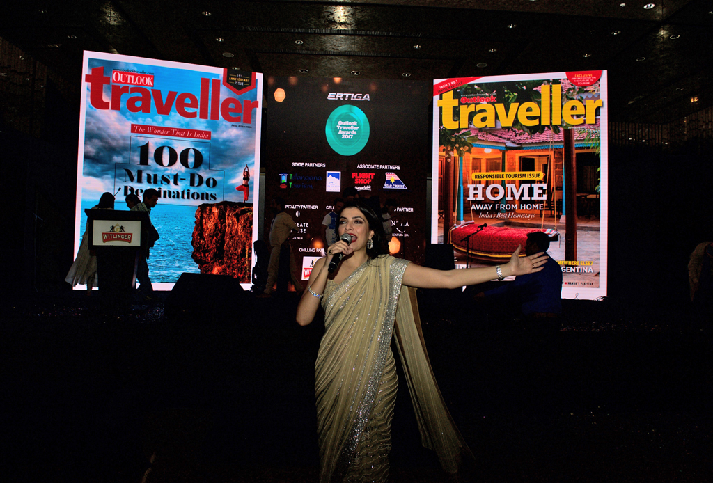 Tunvey Gogia, emcee for the Outlook Traveller Awards 2017