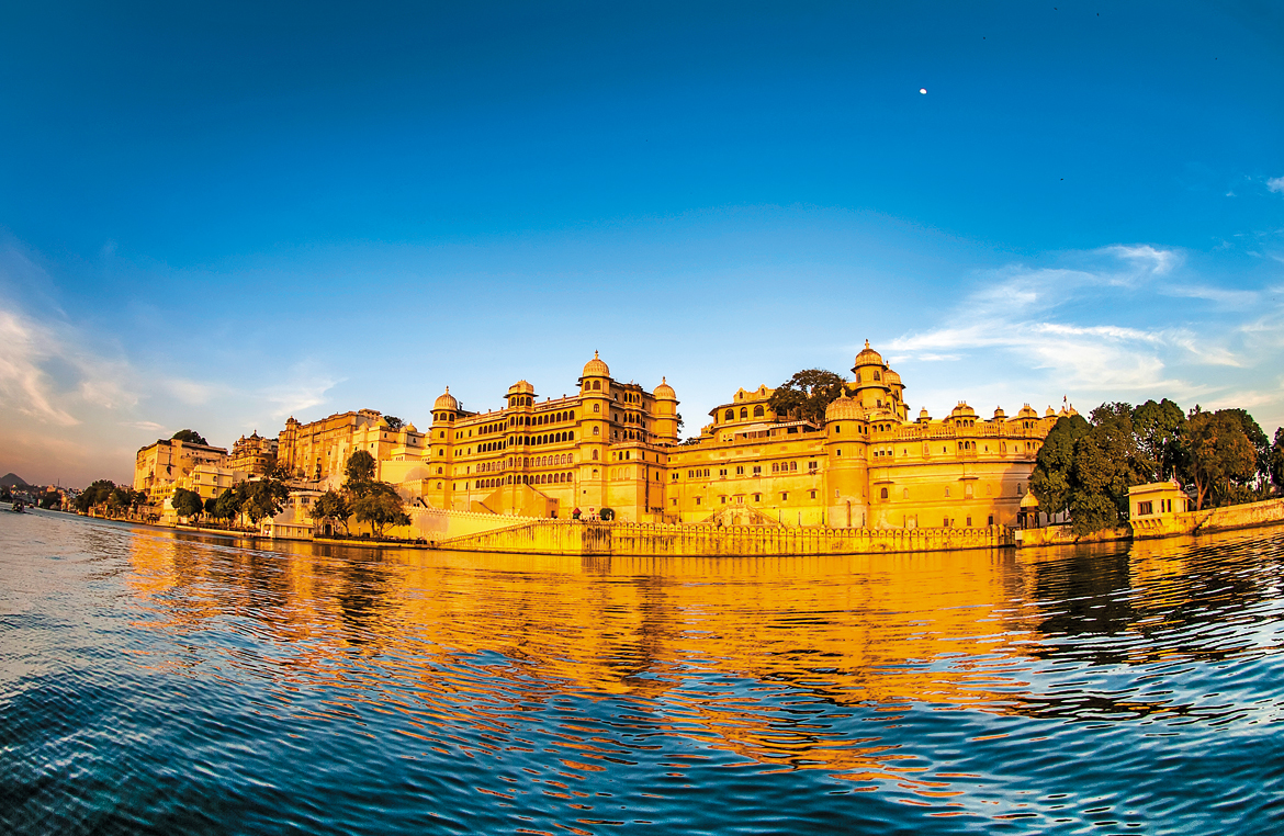 July 2017: City Palace in Udaipur, Rajasthan