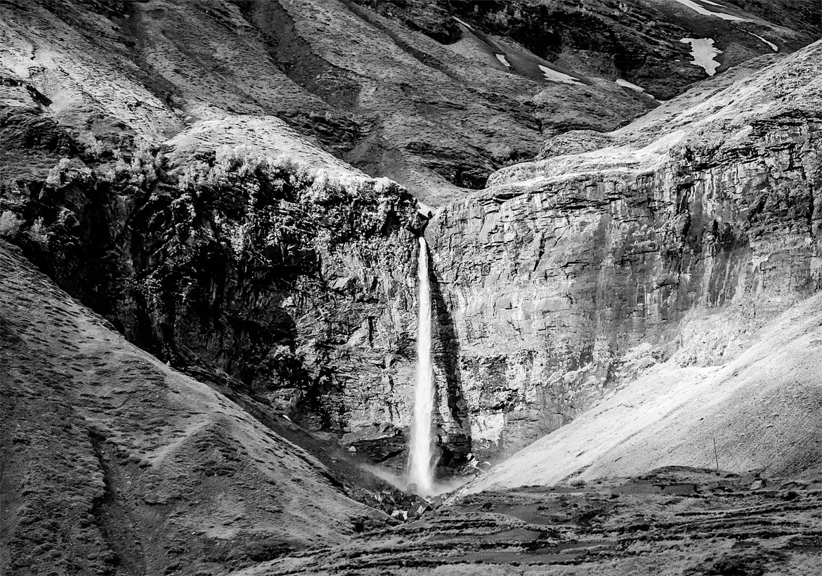The Sissu waterfall in Lahaul valley
