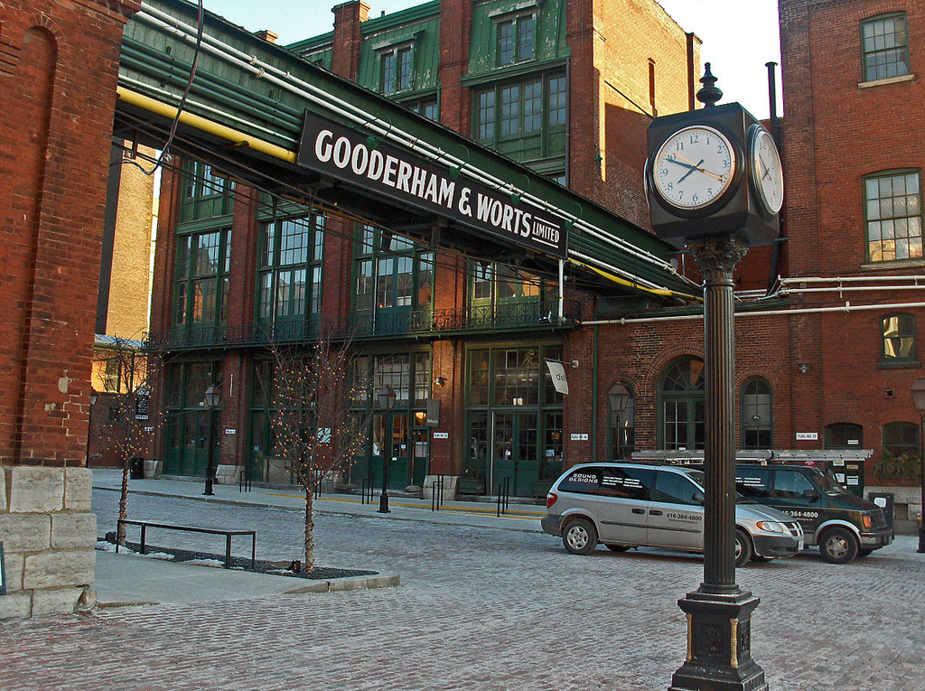Gooderham & Worts whiskey distillery