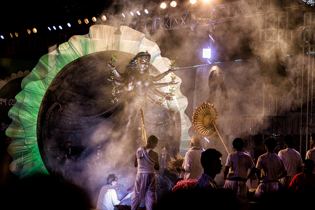 As each float went by, one caught a glimpse of the idols, each crafted with much care