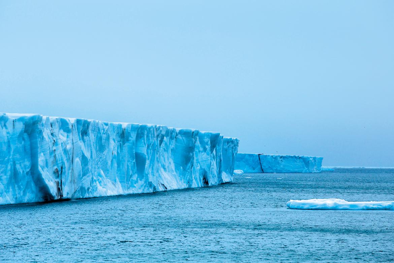 A remote terrain of glaciers