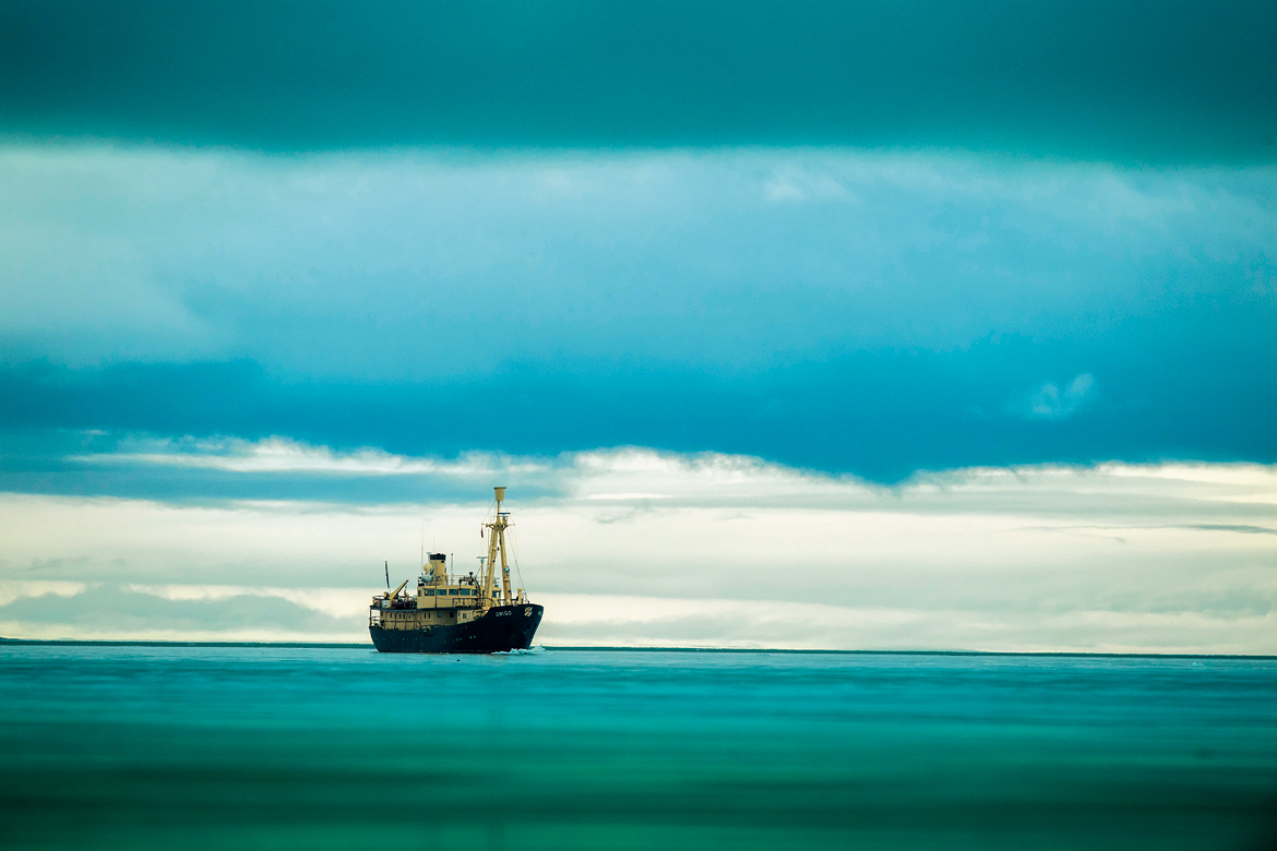 A ship is the preferred mode of transport to get around the archipelago
