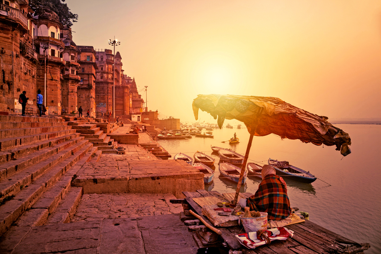 Banks of river Ganga in the holy city of Benaras