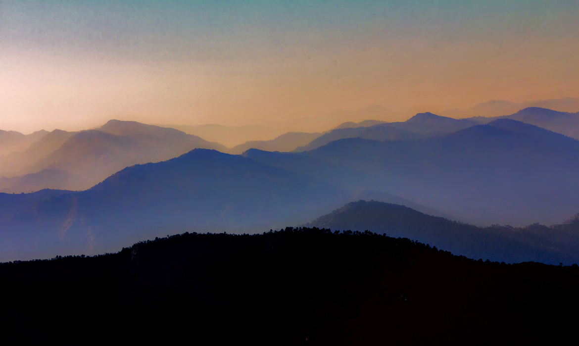 Beautiful shot of mountains as seen from Ramgarh