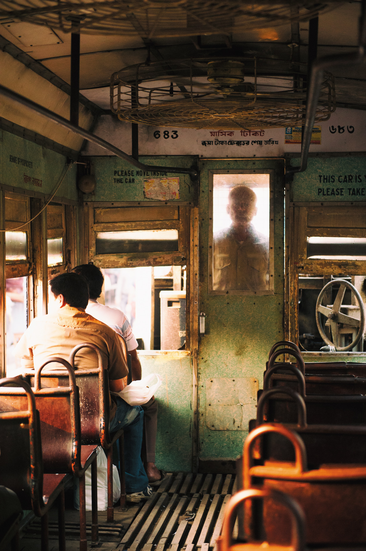The atmosphere inside the tram is almost poetic