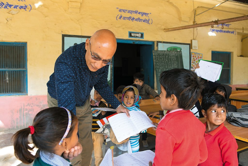 Photo Credit: Selvaprakash Lakshmanan, Jai Singh meets the kids of a school which his trust funds