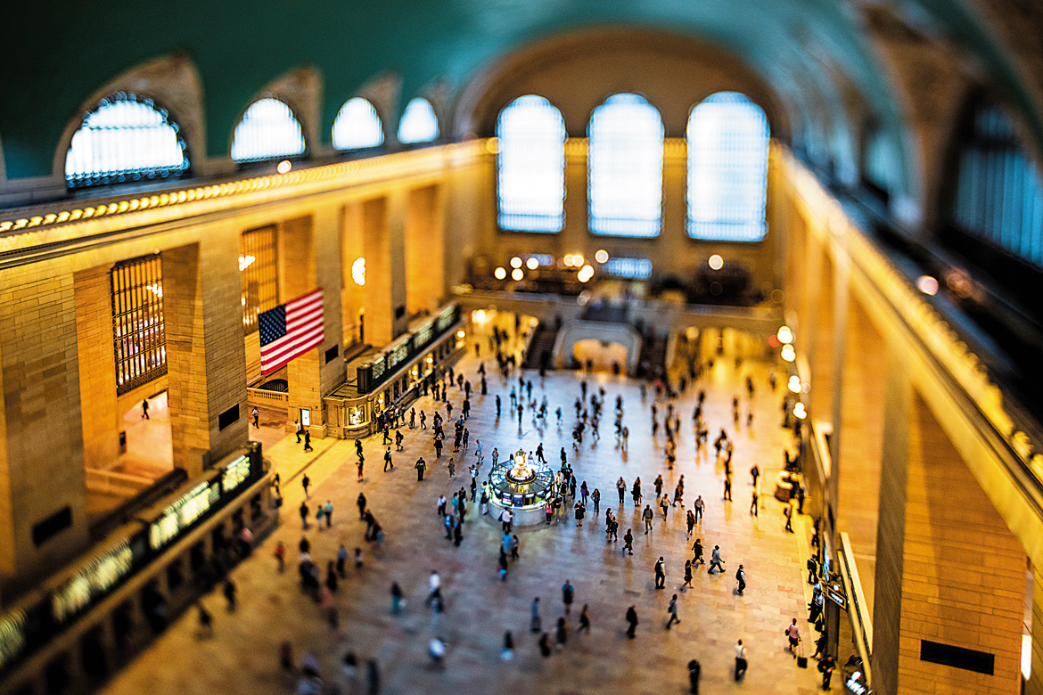 A view of the Grand Central Station in New York