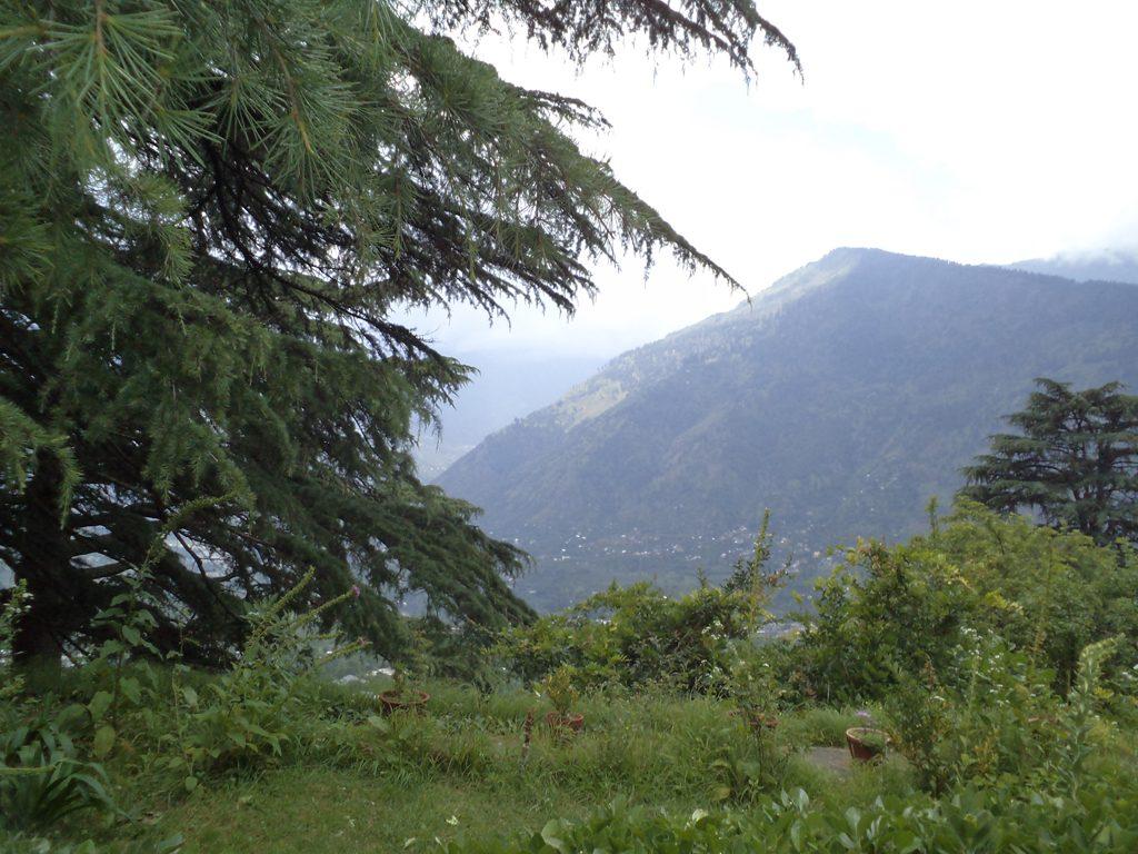 Những khu vườn nhìn ra những ngọn núi từ Roerich Estate