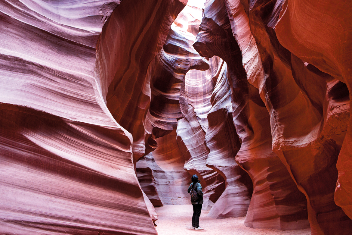 A special place of reverence for the Navajo people, the Upper Antelope Canyon is known as TseÒ bighanilini or