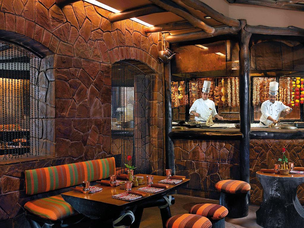 Interiors of Bukhara restaurant in Delhi