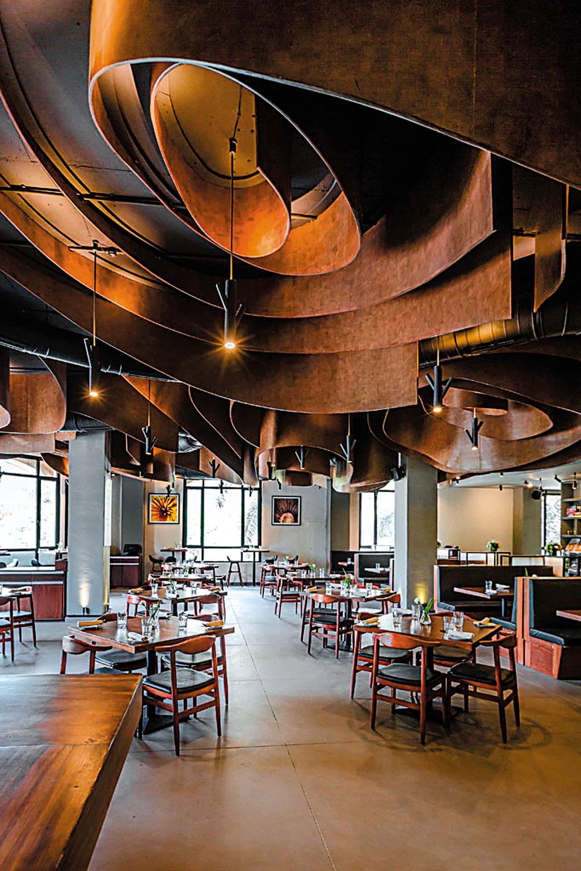 Interiors of Indigo restaurant in Mumbai