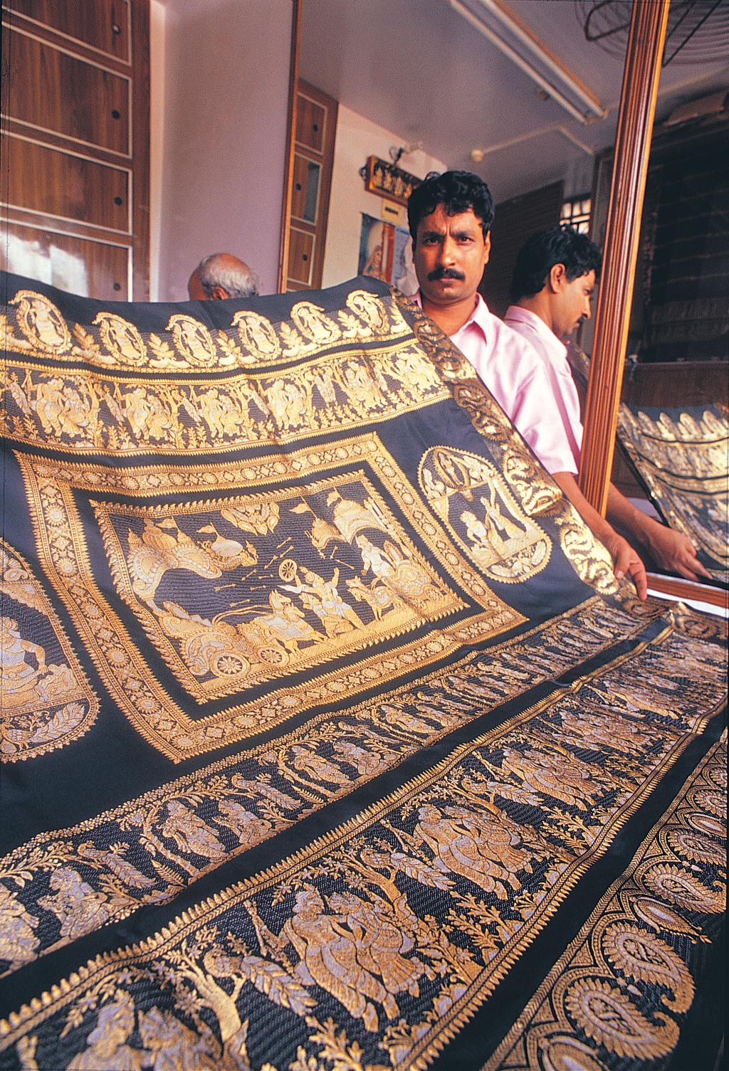 Baluchari saree is unique to the region