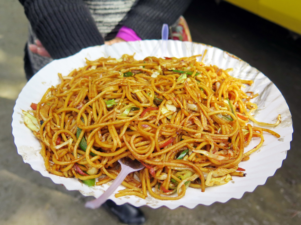 Delicious plate of Sikkim noodles
