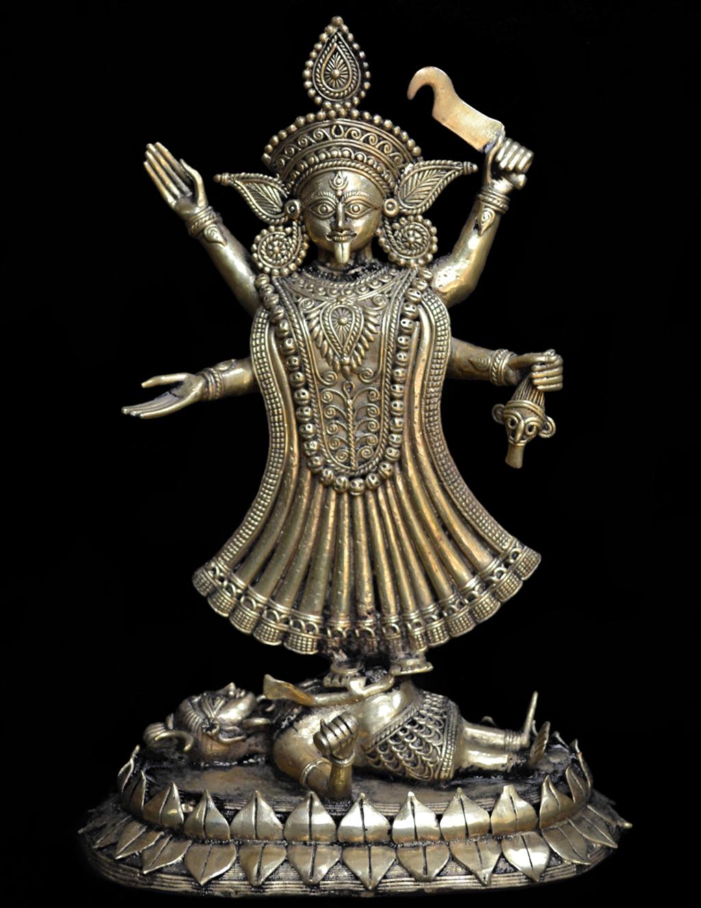 Dhokra figurine of the goddess Kali