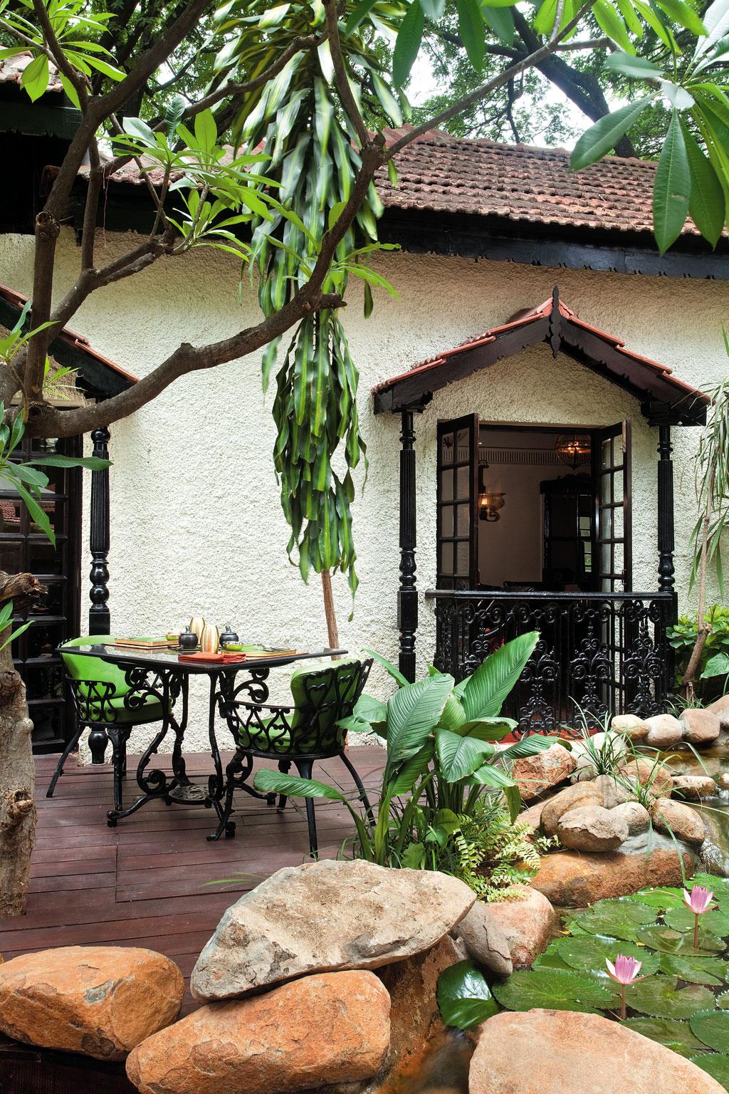 Interiors of Karavalli restaurant in Bengaluru