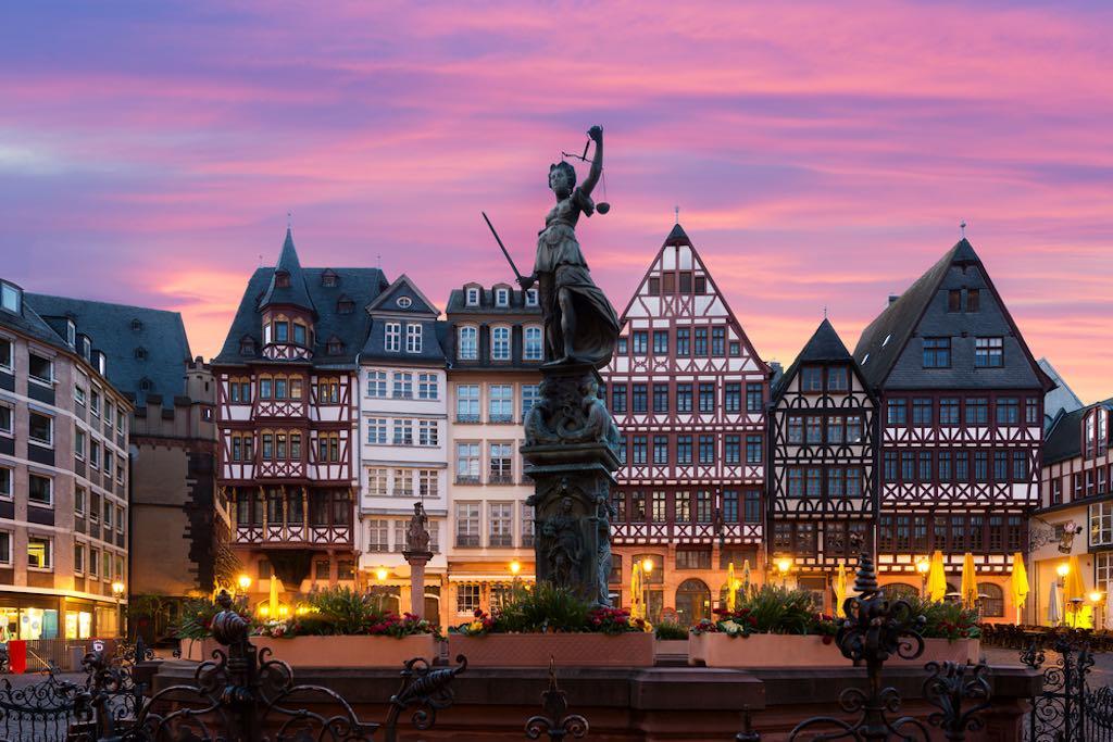 Old town square in Frankfurt