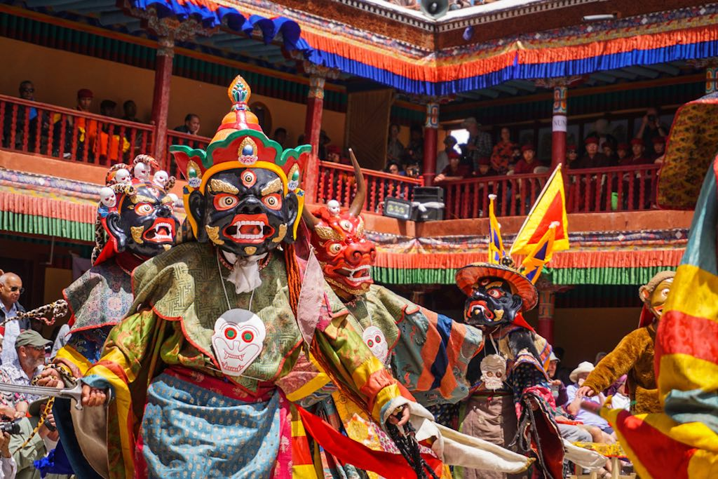 Masked dances are the highlights of the Hemis Festival