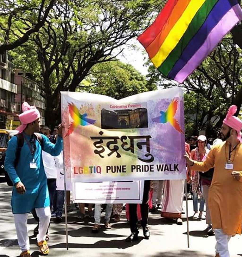 People on the Streets of Pune Celebrating Pride Month