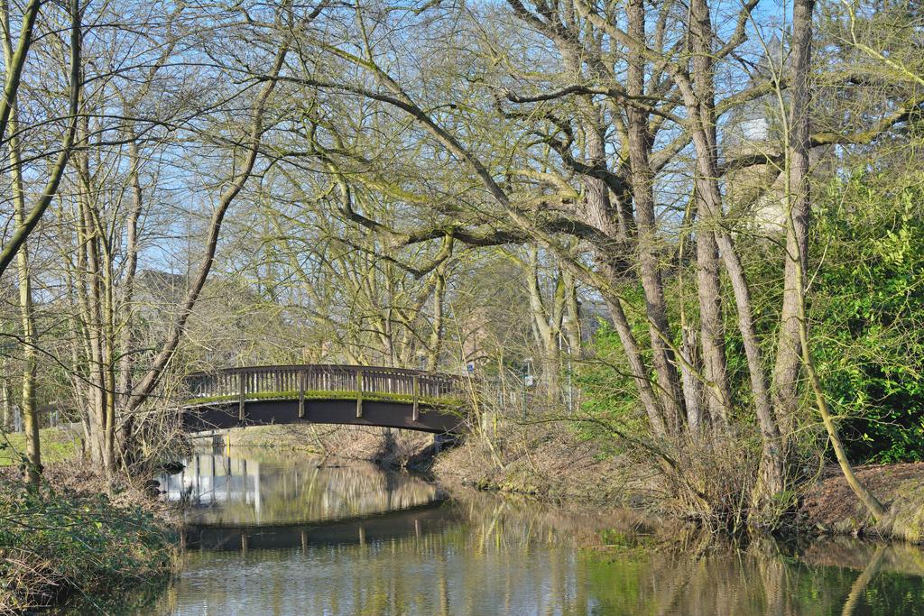Schwalm River in Brueggen in Rhineland, Germany