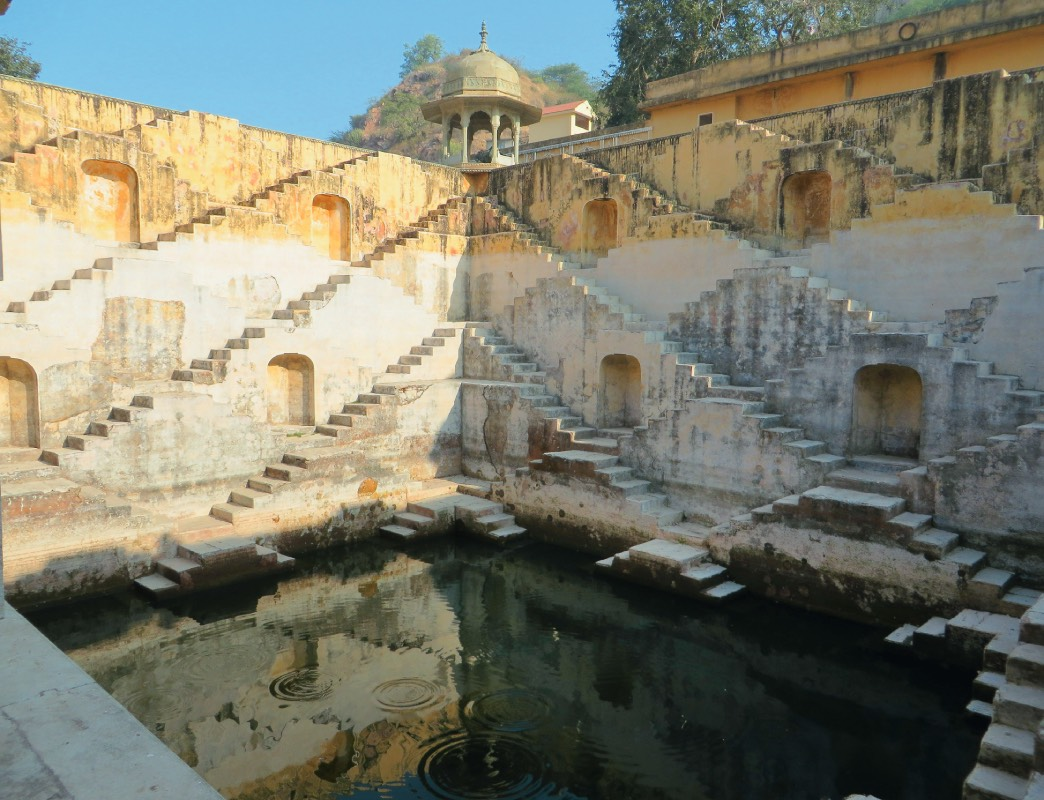 The Panna Meena ka Kund steps form shifting patterns, depending on the position of the viewer