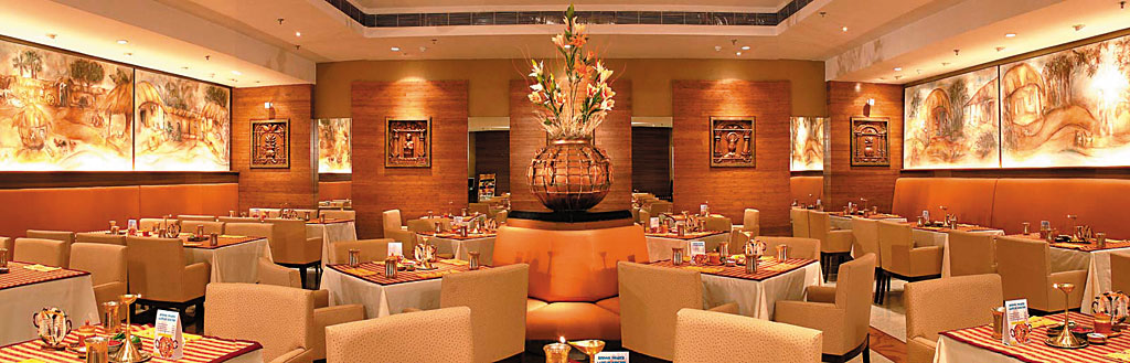 Interiors of Aaheli restaurant in Kolkata