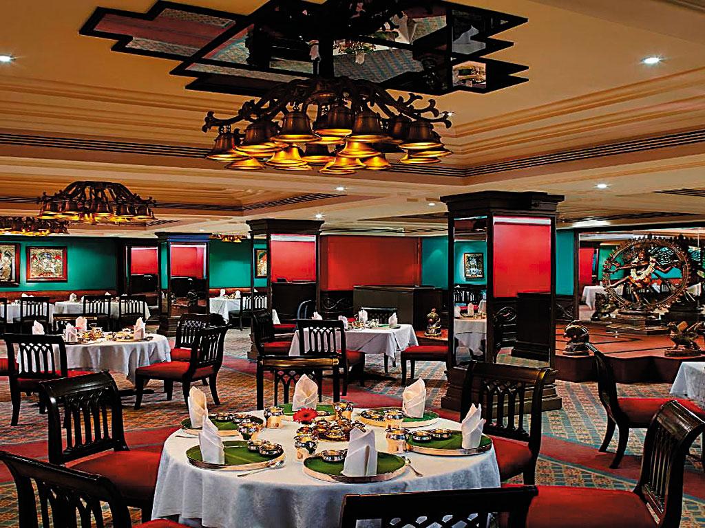 Interiors of Dakshin restaurant in Chennai