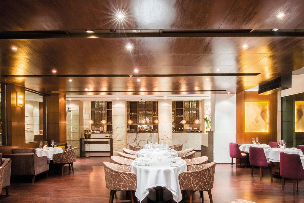 Interiors of Indian Accent restaurant in Delhi