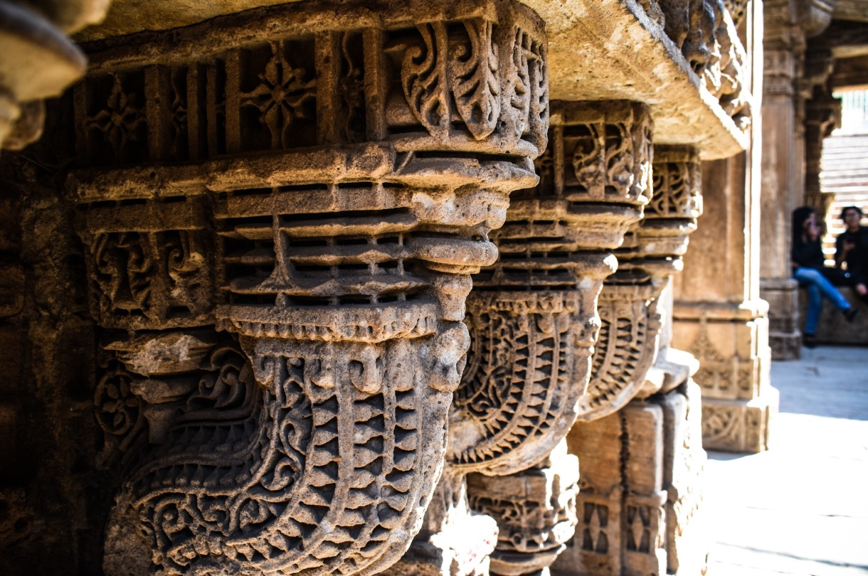 The Adalaj Stepwell is located in the village of Adalaj, close to Ahmedabad city in Gujarat