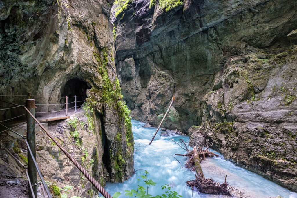 The mighty Natural Monument Partnach Gorge