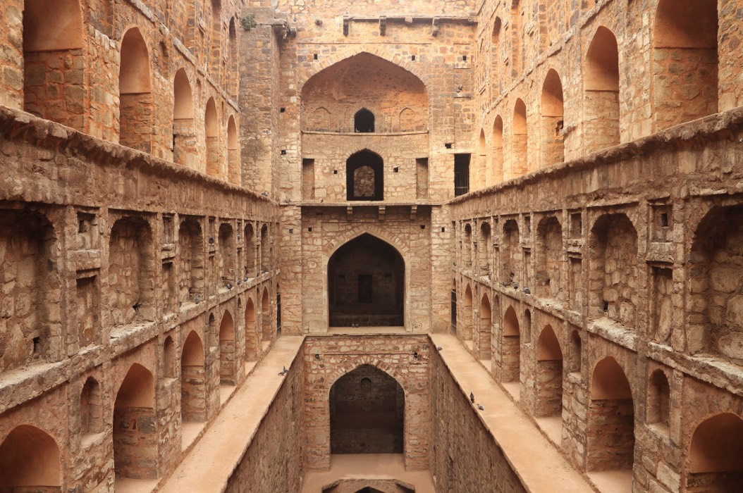 Agrasen ki Baoli in Delhi, a designated protected monument by the Archaeological Survey of India