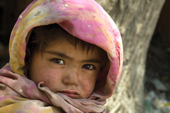 A young girl in Kargil in west Ladakh