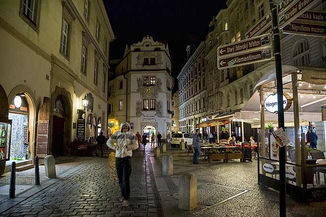 An evening scene in Prague, whose city centre is a Unesco World Heritage Site