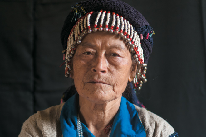 The 90-year-old wife of the tribal chief of Nibudi village