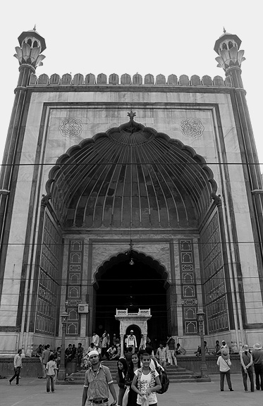 The entrance to the mosque's main prayer hall