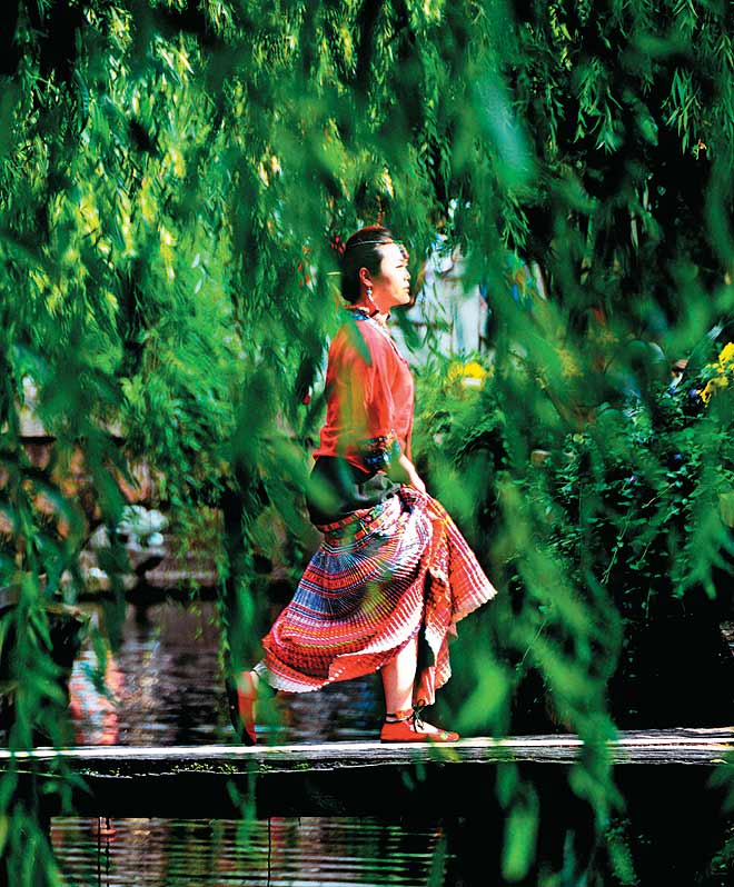 A Chinese belle in Lijiang