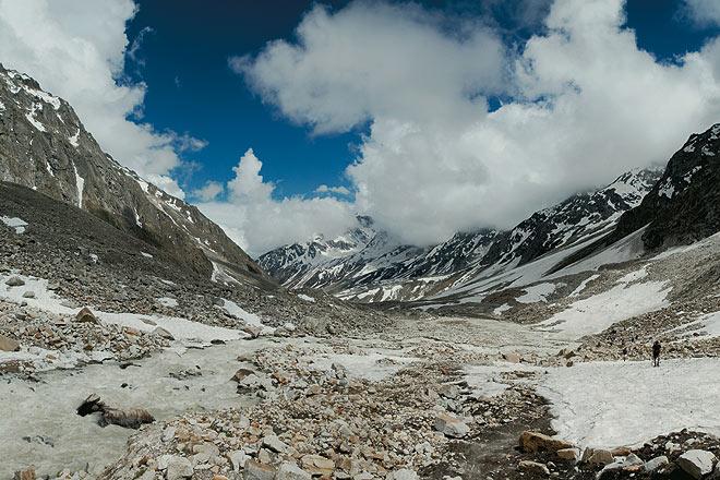 Stunning terrain of the Lamkhaga glacier