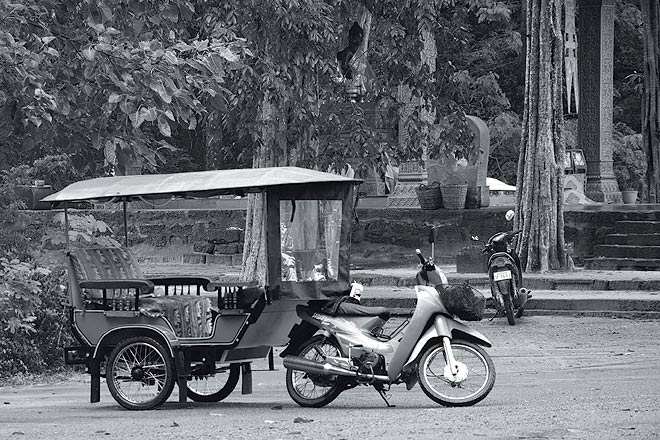 Banteay Srei: The tuk tuk is the preferred mode of transport when temple hopping